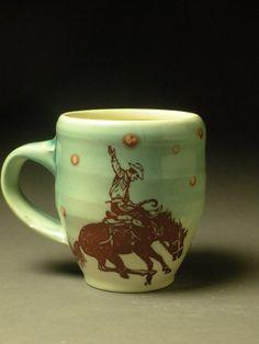 Cowboy mug $29 patti Sandberg
