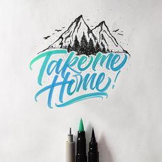 Colorful Brushpen Lettering Set on Behance