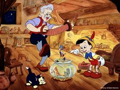 *JEPETO, PINOCCHIO & JIMINY CRICKET ~ Pinocchio, released Februrary 7, 1940