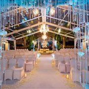 Vinoy Resort St Petersburg Florida Tea Garden Wedding Ceremony Fountain Marquee