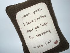 Novelty Cat Pillow  Pet Bed Pillow  Funny Cat by ThePineappleCatz, $25.00