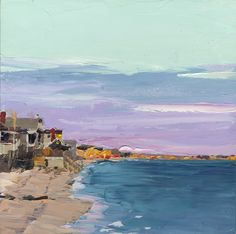 Photo of painting Ann Gorbett Palette knife painting PROVINCETOWN