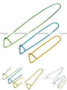[Visit to Buy] 3x Aluminum Holders Stitch Size S M L Knit Knitting Needles WWF #Advertisement
