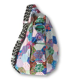 """Kavu """"Rope Bag"""" Messenger Bag. Ok so I tried tagging, but I pinned this for my mom, Jennifer Carlton! She makes stuff with little hexagons like this ALL the time!!"""