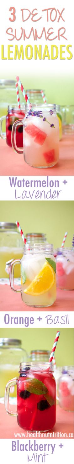 3 Summer Detox Lemonades - Healthnut Nutrition