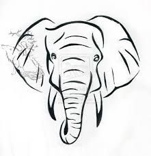 Image result for black and white elephant tattoo designs