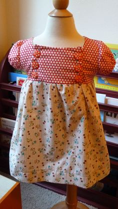 homemade Easter dress using free pattern from here http://www.craftinessisnotoptional.com/2011/07/junebug-dress-sew-along-part-1-pattern.html