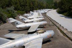 The Withdrawn Fighter Plane Graveyard at Kuçovë Airbase, Albania