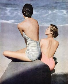 From Life Magazine: Vintage Bathing Suits Beach Photo Bandeau Bikini Tops, Tankini Top, Vintage Glamour, Vintage Beauty, Vintage Fashion, Life Magazine, Moda Vintage, Retro Vintage, Vintage Style