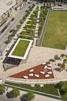 Main Street Garden Park in Dallas, Texas by Thomas Balsley Associates