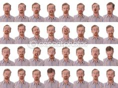 Velké výrazy obličeje — Stock obrázek #1663809