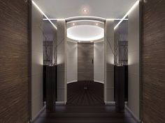 Enter the plane through its round foyer and ...