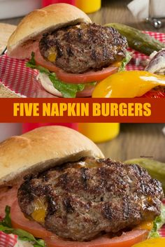 Our Five Napkin Burgers are seriously the juiciest, messiest, most delicious burgers you've ever tried! Don't take our word for it, try them tonight! Healthy Ground Beef, Ground Beef Recipes For Dinner, Ground Meat, Beef Casserole Recipes, Ground Beef Casserole, Burger Bar, Good Burger, Fun Easy Recipes, Easy Meals
