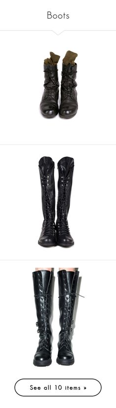 """Boots"" by pyroplanthoarder ❤ liked on Polyvore featuring shoes, boots, ankle booties, footwear, shoes - boots, navy blue combat boots, navy boots, combat booties, navy booties and army navy boots"