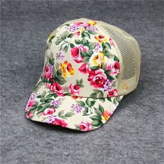 7cd10ed96dc01 New Arrival Female Floral Hat Baseball Cap Mesh Cap Spring and Summer  Sports and Leisure Sun