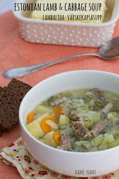 Estonian lamb and cabbage soup by Pille @ Nami-Nami