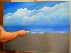 ▶ Acrylic Sky and Ocean Painting By Miguel Angel - YouTube