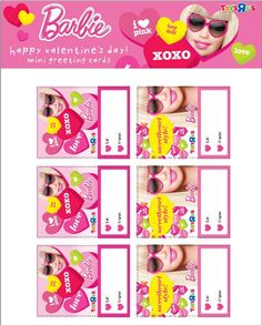 #Barbie Valentines - just click and print!