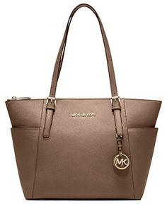 $248  MICHAEL Michael Kors Jet Set East West Top Zip Tote - Handbags & Accessories - Macy's