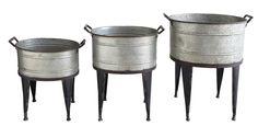 Grange 3 Piece Round Pot Planter Set
