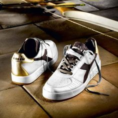Diadora Heritage BElite Kangaroo Skin Leather Mens Trainers in White in  Clothes