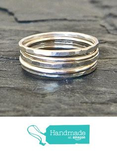 Artisan Silver Stacking Thumb Ring Set of Five Trendy Sterling Silver Hammered Style Handmade Women from SerendipityHandcraft http://www.amazon.com/dp/B0169BF44K/ref=hnd_sw_r_pi_dp_YwTGwb0GM2MNN #handmadeatamazon