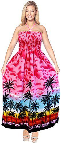 New La Leela Party Backless Sundress Halter Evening Boho Swimsuit Tube Dress Maxi Skirt Beach online. Perfect on the Lovers   Friends Dresses from top store. Sku ecfi81091kglb47603