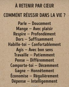 L'image contient peut-être : texte - French Language Lessons, French Language Learning, French Lessons, French Phrases, French Quotes, Positive Words, Positive Attitude, Vie Motivation, French Expressions