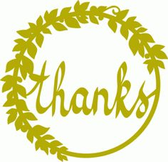 thanks (wreath)