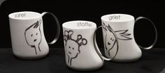 Functional Art & Gifts made from stainless steel, leather and wood. Beautiful Things, Van, Mugs, Tableware, Leather, Gifts, Design, Dinnerware, Presents