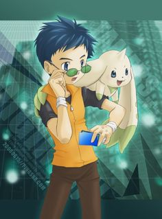 Digimon Tamers Henry and Terriermon