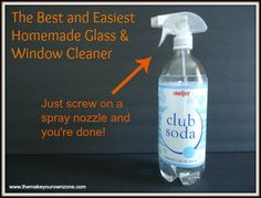 Homemade glass cleaner... No more streaks or chemicals!