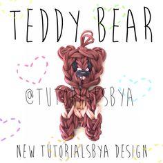 Original TutorialsByA Rainbow Loom Teddy Bear Charm/Figurine