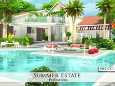 Sims 4 CC's - The Best: Summer Estate - No CC by Pralinesims