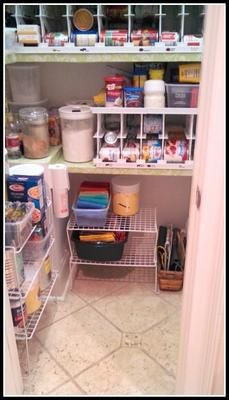 Canned good rotation rack and organizer, to both store your canned food and also to use the oldest first so you don't accidentally leave some to expire {featured on Home Storage Solutions 101}