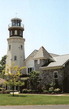 Island Street Boatyard Lighthouse, New York, USA