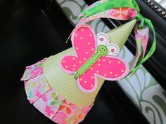 Butterfly Birthday Hat Butterfly Party Hat by AllisonHopeDesigns, $12.00