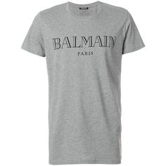4f194d19 Balmain logo printed T-shirt ($219) ❤ liked on Polyvore featuring men's  fashion