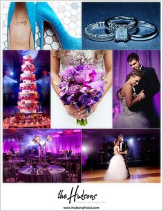 Love the purple lighting and gorgeous details! What an amazing wedding... - Photos by Jason + Kori