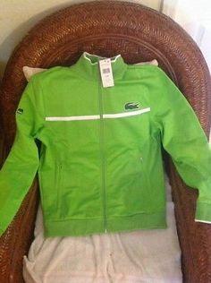 la coste sport miami open tennis tennis green jacket NWT size 4/M mens