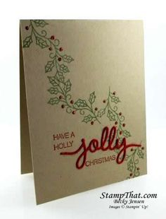 Holly Jolly Greetings stamp set