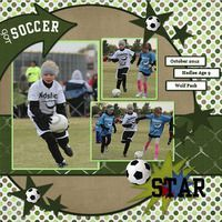 Soccer single pg layout with 3 photos
