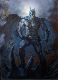 Batman by Lucio Parrillo , in Kirk Dilbeck's 3-Wishes Presents: Lucio Parrillo  Comic Art Gallery Room