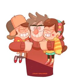I love the way how Ford hugged the kids and I can't be the only one… he would probably hug them like that when they visit gravity falls again ( also I think mabel won't need her braces anymore :3)