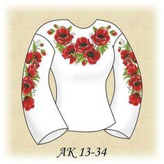 Заготовка к вышиванке женской Маковое разнообразие АК 13-34 Д
