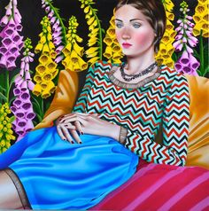 bfef823d7df These Hypnotic Portraits of Women Dazzle the Eye with Color and Pattern