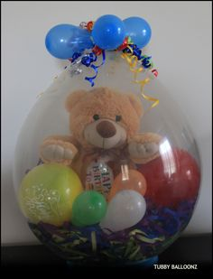 Happy Birthday Balloon! We can fit almost anything inside!  www.Facebook.com/tubbyballoonz