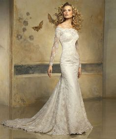 Mermaid white/ivory wedding dress bridal dress custom size 4 6 8 10 12 14 16 18+