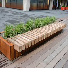 A map of the best contemporary landscape architecture projects from around the world. Urban Furniture, Street Furniture, Garden Furniture, Planter Bench, Planters, Modern Landscaping, Backyard Landscaping, Landscaping Ideas, Landscape Architecture