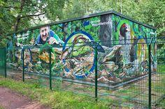 Art-EFX-Trafostation zeigt das Leben im Torholz und dessen Bedeutung für den Wald, #artefx, #murals, #muralpainting, #streetart, #graffitiauftrag, #substation, #illusionsmalerei, #totholz, #waldtiere, #hirschkäfer